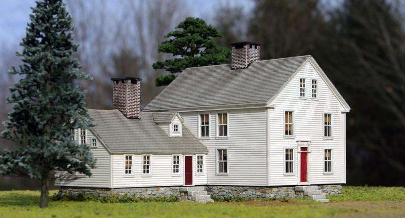Model of Colonial Georgian Home